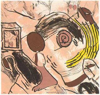 A tu Violencia Granate, Sordomudos en la Penumbra (A García Lorca un Poeta en Nueva York Series) by Josep Mª Guinovart