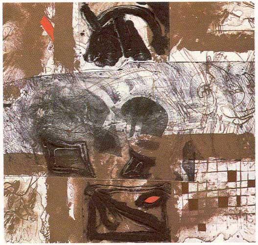 Los Mulatos Estiraban Gomas Ansiosos de Llagar al Torso Blanco (A García Lorca un Poeta en Nueva York Series) by Josep Mª Guinovart