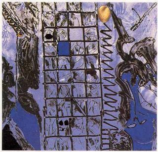 Enjambres de Ventanas Acribillaban un Muslo de la Noche (A García Lorca un Poeta en Nueva York Series) by Josep Mª Guinovart
