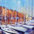 Harbour Reflections, Honfleur by Joe Cousin