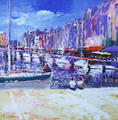Le Vieux Bassin, Honfleur by Joe Cousin