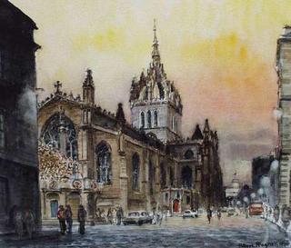 St. Giles Cathedral, Edinburgh by Hubert Pragnell