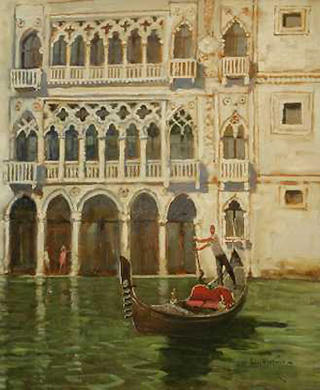Ca' D' Ore Grand Canal by John Haskins