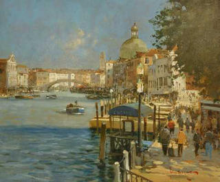 Toward Ponti Degli Scalzi by John Haskins