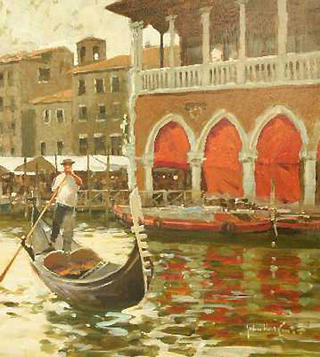 The Fish Market Venice by John Haskins