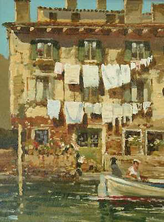 Wash day Venice by John Haskins