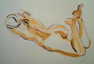 Nude Feet Up by Alex Mackenzie