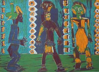 Three Characters by Gloria Ducás