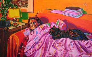 When I am Old I Will Sleep Placidly Under a Curtain and a Black Cat by Estefanía Córdoba