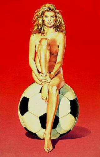 Fussball Fannie by Mel Ramos