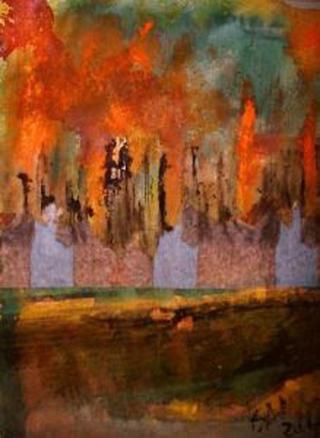 Landscape in Flames by Pilar Bamba Gastardi