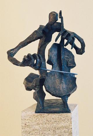 Violincellist by Angel Florez-Estrada Mallart