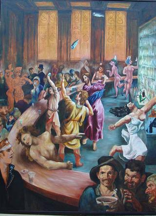 Artists at The Bar by Tony Heath
