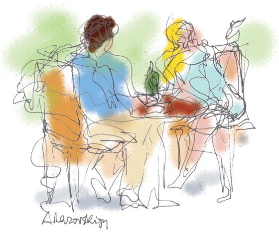 Au Cafe by Alexandra Lazovski
