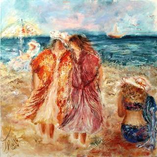 At the Beach by Malka Tsentsiper