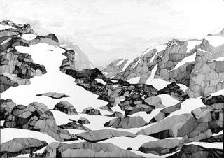 Rocks with Snow by Fred Kennett