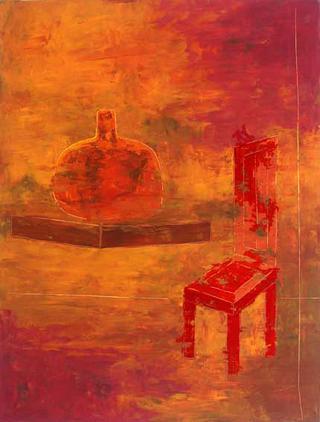 Vase, Chair and Sundown by Eleonora Drummond