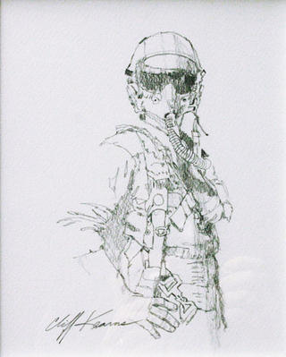 Pilot Drawing by Cliff Kearns