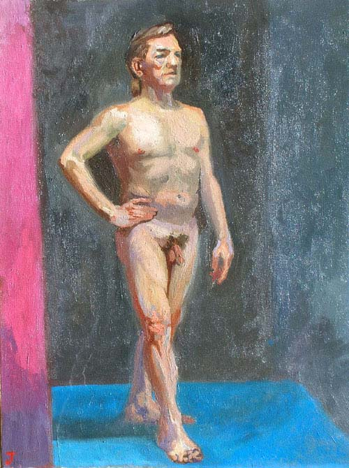Male Nude Model by Joseph Miller. Wall Color