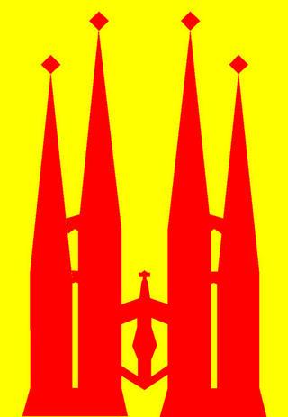 Spain Six - Sagrada Familia - Barcelona Skyline by Asbjorn Lonvig