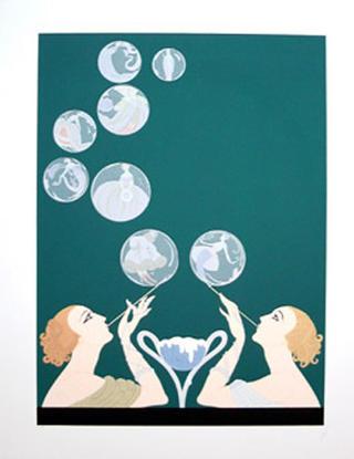 Bubbles by Erte