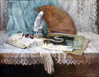 Still-life with Gloves by Lubov LESOCHINA