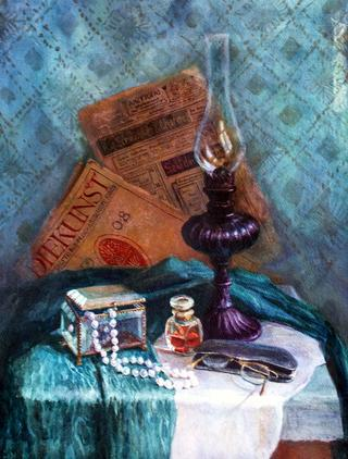 Still Life with Lamp by Lubov LESOCHINA