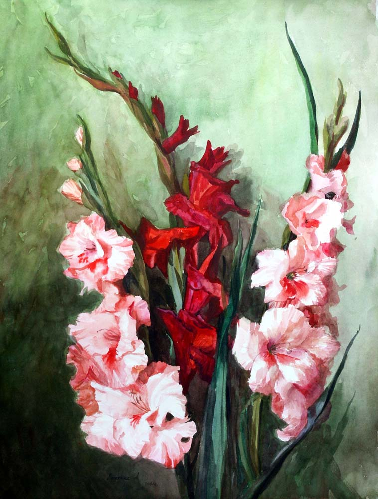 Gladiolus Original Art by Lubov LESOCHINA :: PicassoMio