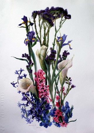 April Bouquet by Lubov LESOCHINA