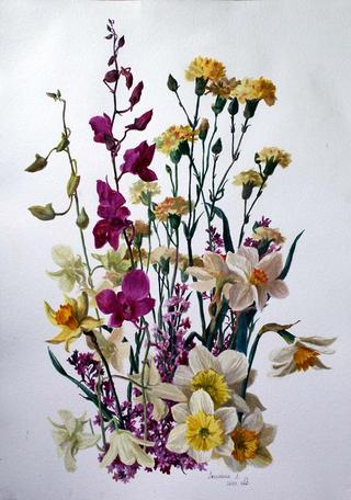 May Bouquet by Lubov LESOCHINA