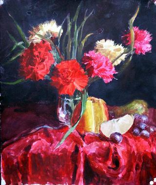 Red Carnation by Lubov LESOCHINA