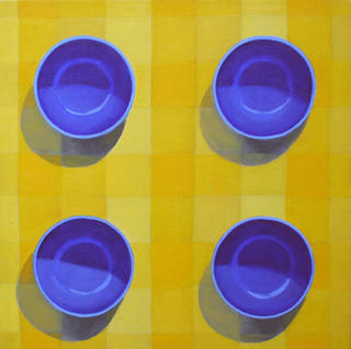Four Blue Bowls by Courtney Miller Bellairs