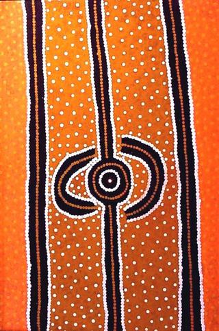 Water Whole Story by Long Jack Phillipus Tjakamarra