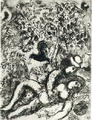 Le couple a l'arbre by Marc Chagall