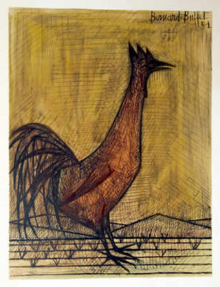 Super Rooster Original Art By Bernard Buffet Picassomio Home Interior And Landscaping Palasignezvosmurscom