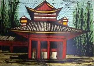 The Little Temple (From the series: Le Voyage au Japon) by Bernard Buffet
