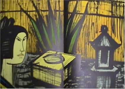The fountain of Purification(From the series: Le Voyage au Japon) by Bernard Buffet