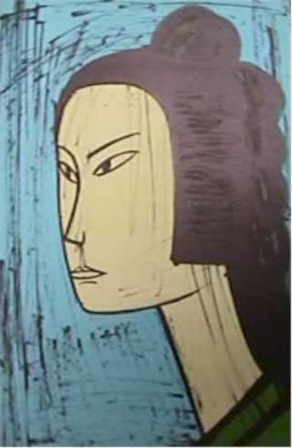 Untitled 3 (From the series: Le Voyage au Japon) by Bernard Buffet