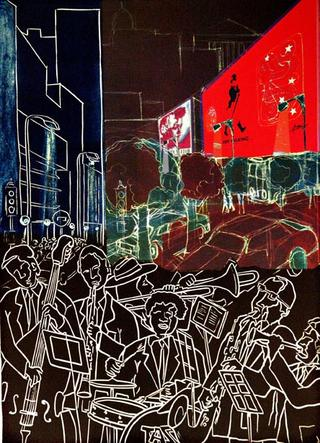 Sexteto en la Calle by Luis Yngüanzo
