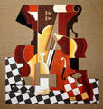 Still Life with Violin by Afshin Naghouni