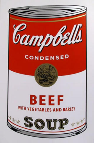 Campbell Soup Can: Beef by Andy Warhol