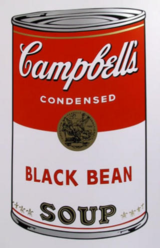 Campbell Soup Can: Black Bean by Andy Warhol