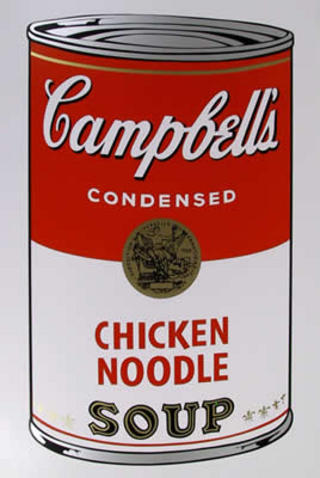 Campbell Soup Can: Chicken Noodle by Andy Warhol