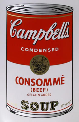 Campbell's Soup Can: Consomme by Andy Warhol