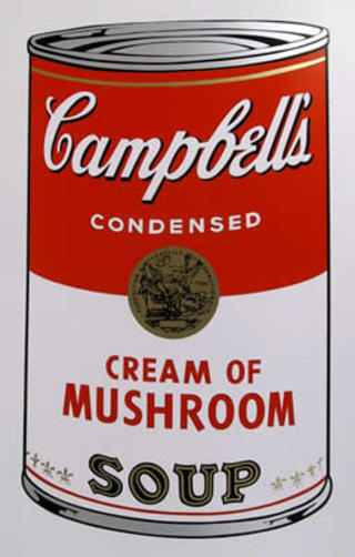 Campbell Soup Can: Cream of Mushroom by Andy Warhol