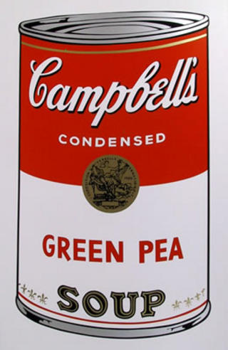 campbell soup can green pea original art by andy warhol picassomio. Black Bedroom Furniture Sets. Home Design Ideas