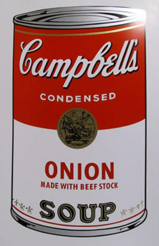 Campbell Soup Can: Onion by Andy Warhol