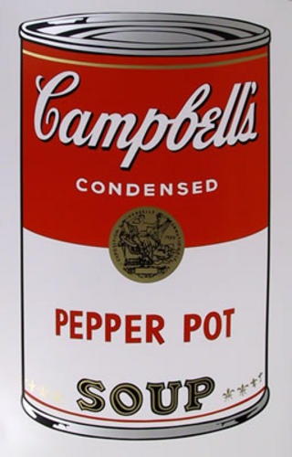 Campbell Soup Can: Pepper Pot by Andy Warhol