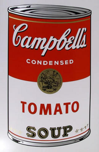 Campbell Soup Can: Tomato by Andy Warhol