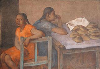Niñas con Panes by Francisco Zuñiga